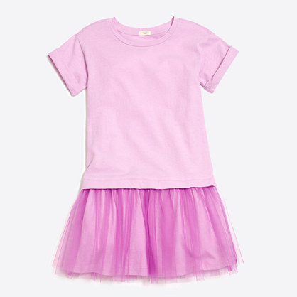 Girls' tulle T-shirt dress