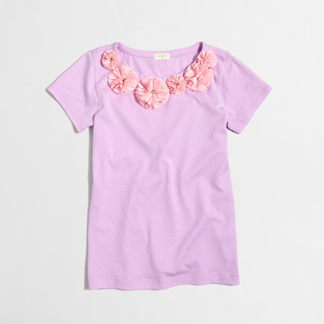 Girls' floral necklace T-shirt