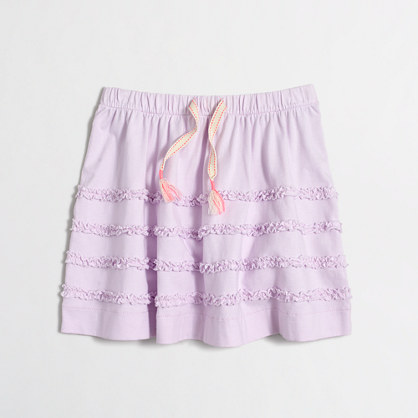 Girls' tiered ruffle skirt
