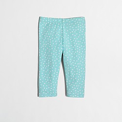Factory girls' tossed hearts capri leggings