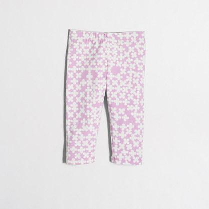 Girls' clover capri leggings