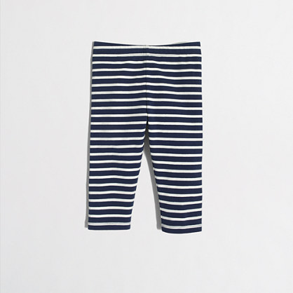 Girls' striped capri leggings