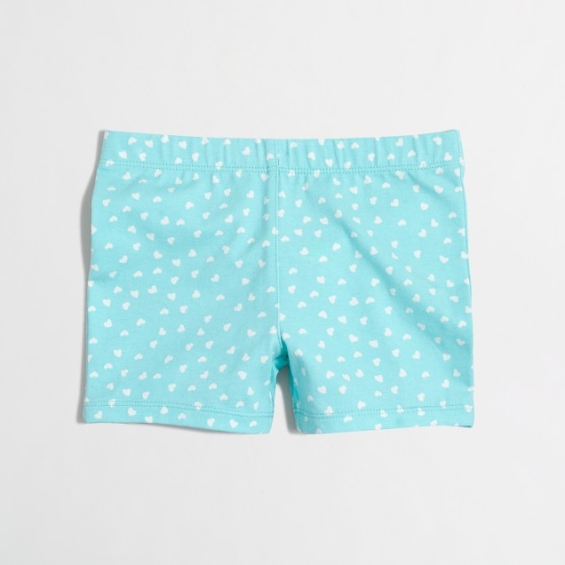 Girls' tossed hearts handstand short