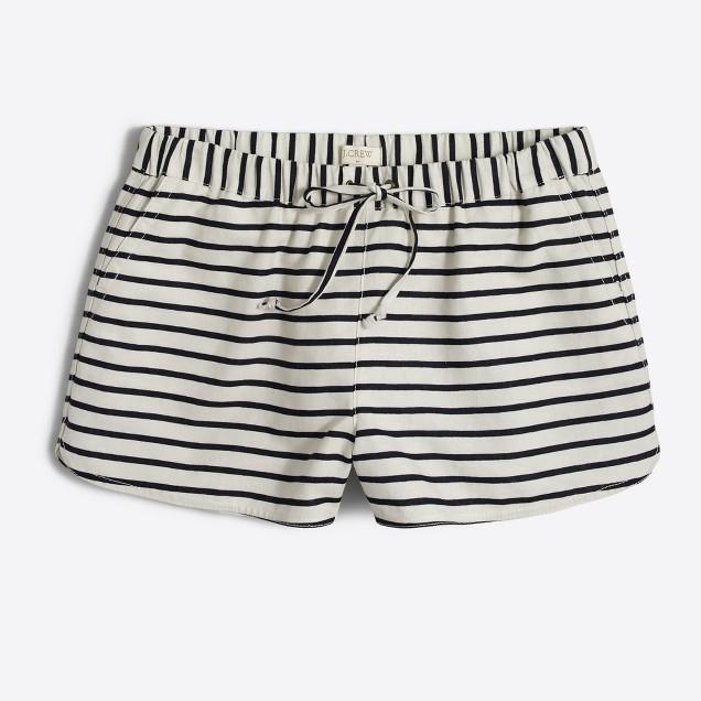 "3"" striped drawstring short"