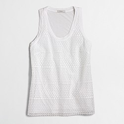 Factory embroidered-front tank top