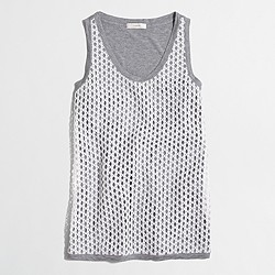 Factory lace-front tank top