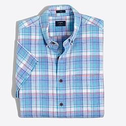 Factory slim short-sleeve homespun shirt