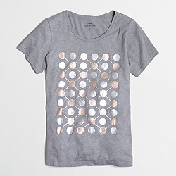 Factory dotted rows collector T-shirt in airy cotton