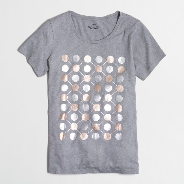 Dotted rows collector T-shirt in airy cotton