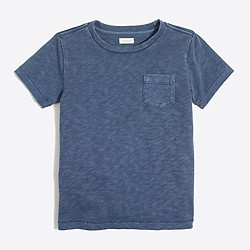Kids' sunwashed garment-dyed pocket T-shirt