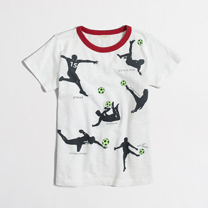 Boys' glow-in-the-dark soccer storybook T-shirt