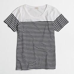 Factory drop-striped scoopneck T-shirt