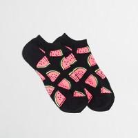 Watermelon tennie socks
