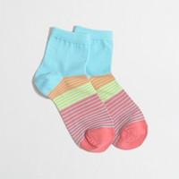 Place-stripe ankle socks