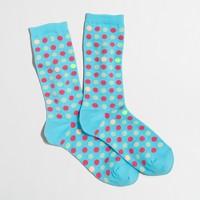 Dot trouser socks