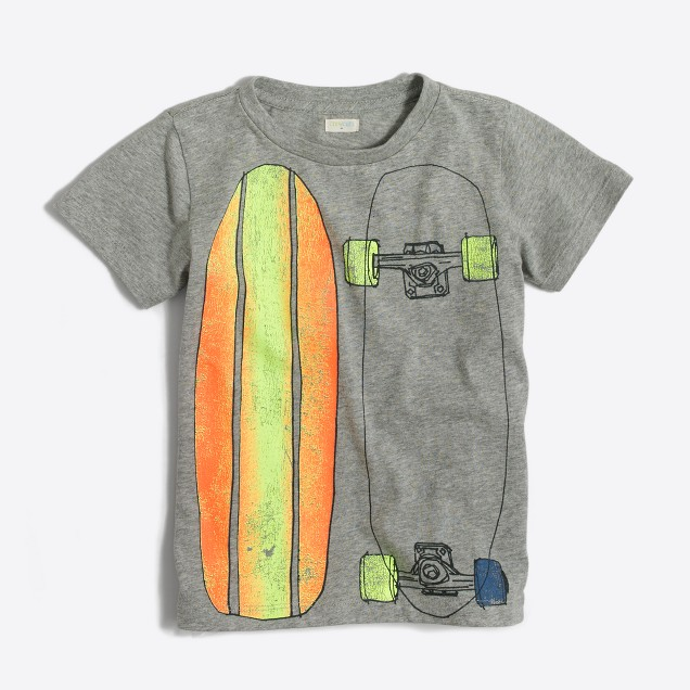 Boys' skateboard storybook T-shirt