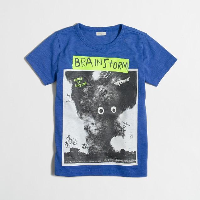 Boys' glow-in-the-dark brainstorm storybook T-shirt