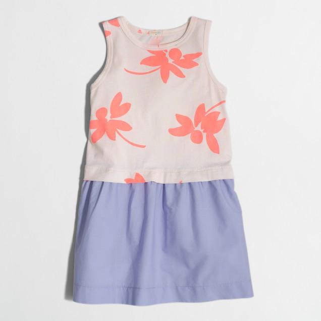 Girls' printed tank dress