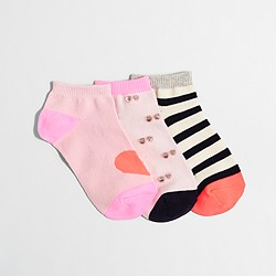 Factory girls' ankle sock 3-pack