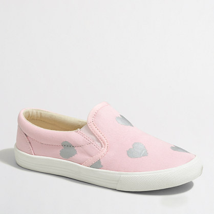 Girls' heart sneakers