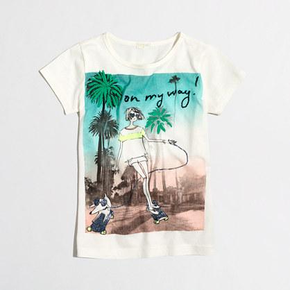 Girls' skateboard keepsake T-shirt