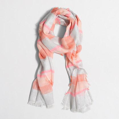 Multistripe Lurex® thread scarf