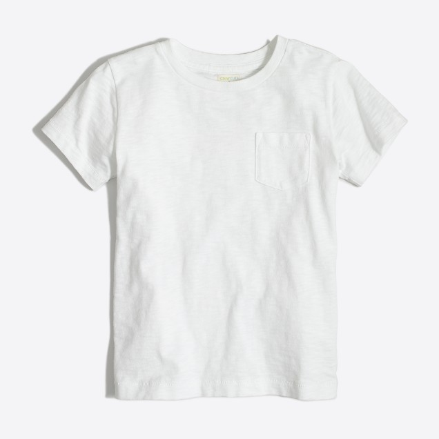 Kids' sunwashed pocket T-shirt