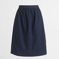 Factory eyelet flounce skirt