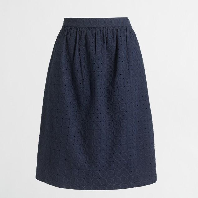 Eyelet flounce skirt
