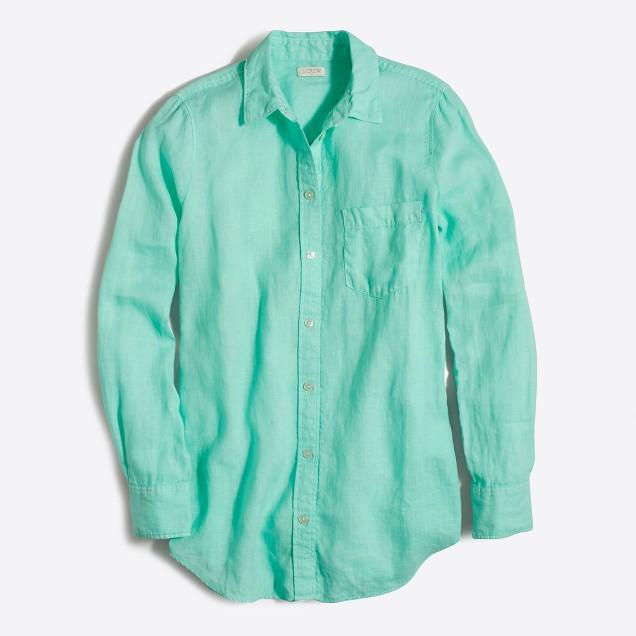 Petite linen shirt