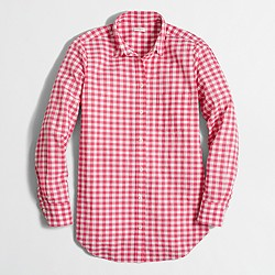 Seersucker gingham shirt