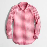 Seersucker gingham shirt
