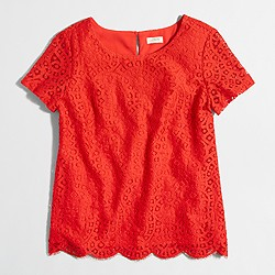 Factory lace T-shirt