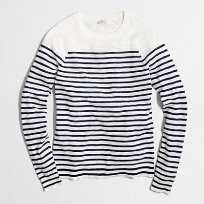Drop-striped Teddie sweater