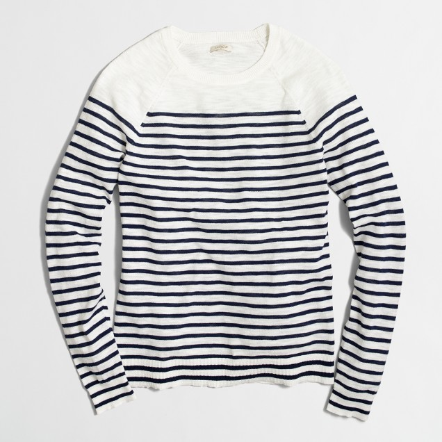 Drop-striped Teddie sweater