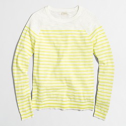 Factory drop-striped Teddie sweater