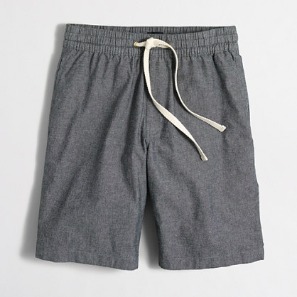 "9"" grey chambray stadium short"