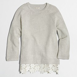 Factory lace-hem sweater