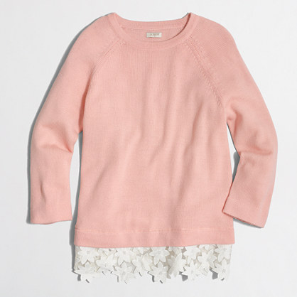 Lace-hem sweater