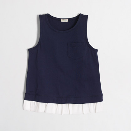 Girls' ruffle-hem tank top