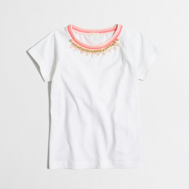 Girls' necklace T-shirt