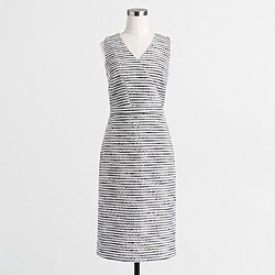 Factory crinkle tweed dress