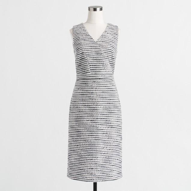 Crinkle tweed dress