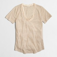 Satin-trim T-shirt