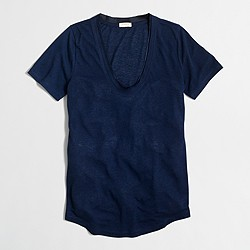 Factory satin-trim T-shirt