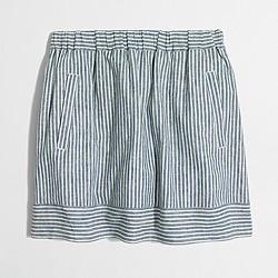 Factory striped cotton-linen skirt
