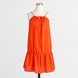 Factory drop-waist drawstring dress