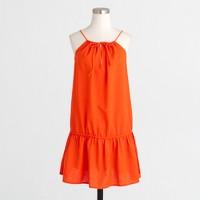 Drop-waist drawstring dress