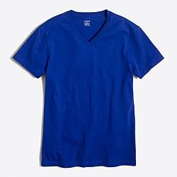 Factory slim washed V-neck T-shirt