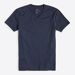 Slim washed V-neck T-shirt